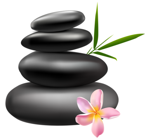 Spa_Stones_with_Pink_Flower_PNG_Clipart_Image.png